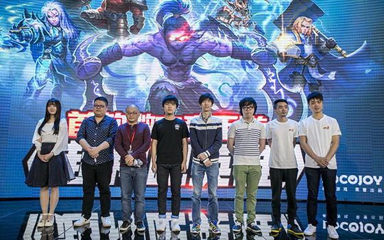 微电竞手游《超神吧英雄》发布会 SKY代言视频