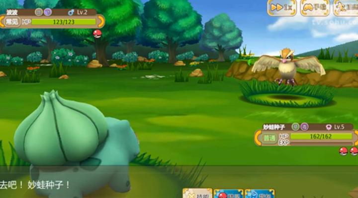 《口袋妖怪重制》实录对战视频妙蛙种子VS波波