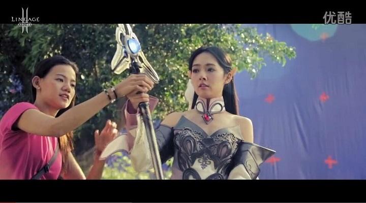 天堂2手游9月27日资料片公测 郭碧婷广告花絮送祝福